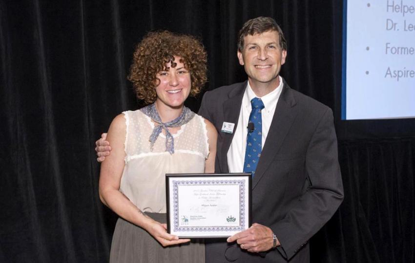 Allyson Ayalon and Dr. Casey Sclar, Executive Director, American Public Gardens Association, at the 2015 American Public Gardens Association Annual Conference