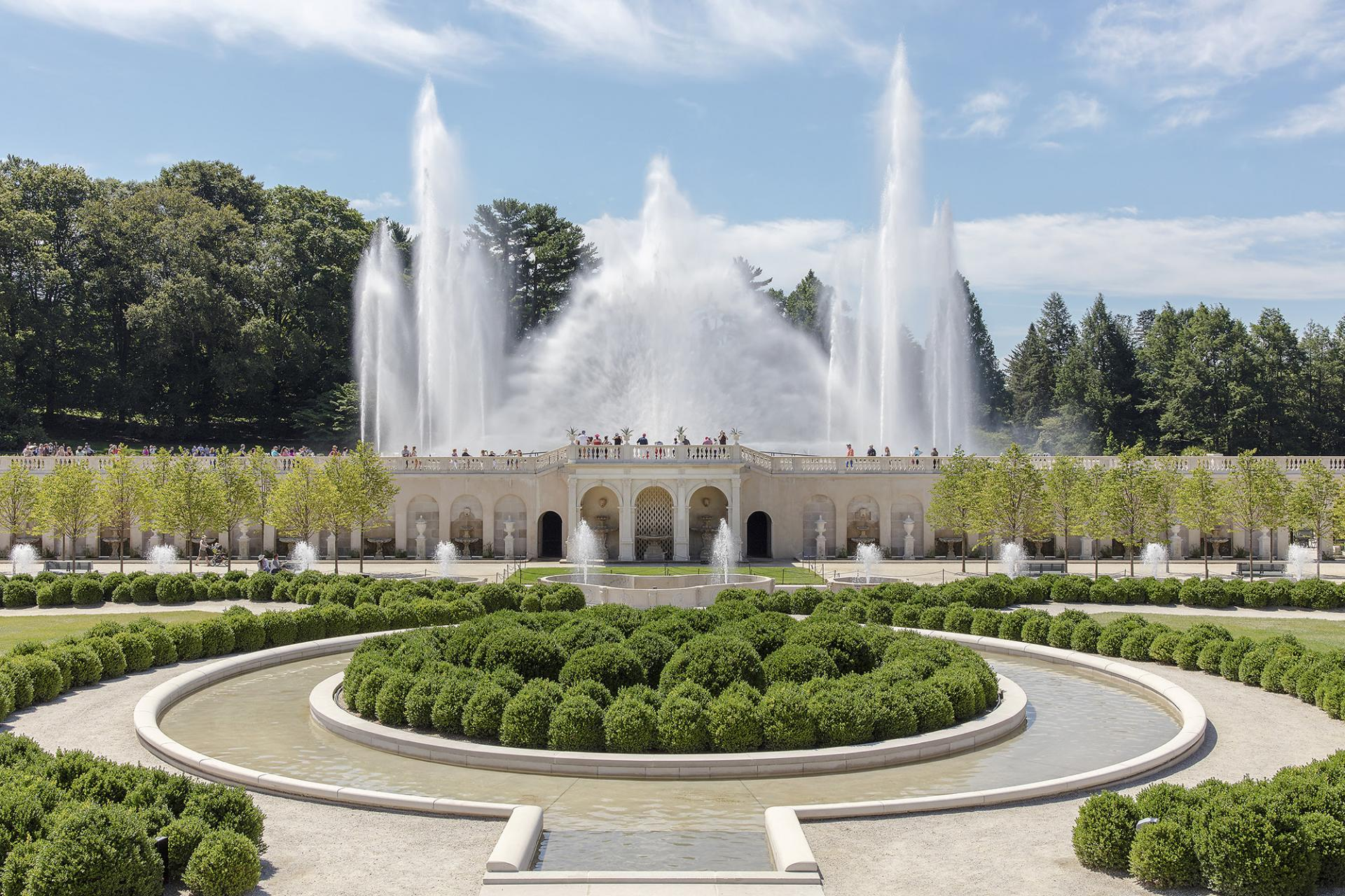 The Revitalized Main Fountain Garden At Longwood Recognized By Preservation Alliance For Greater Philadelphia